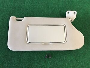 2013-2016 Nissan Altima Sedan Passenger Sun Visor Shade W/ Covered Mirror Grey