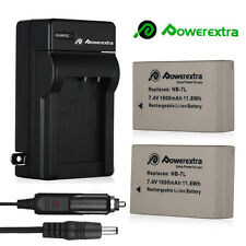 2x 7.4V NB-7L Battery+ Charger for Canon Powershot G12 G11 G10 SX30 IS DSLR
