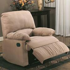 Casual Light Brown Plush Microfiber Chase Recliner by Coaster 600264