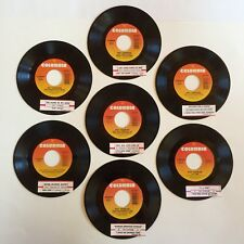 Ray Charles 7 Lot 45 Record Vinyl LP Jukebox Strips Willie Nelson Johnny Cash