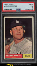 1961 Topps Mickey Mantle #300 PSA 3 VG