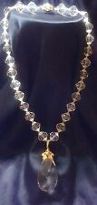 """Vintage """"MIRIAM HASKELL"""" Signed Necklace with Tear drop Pendant"""