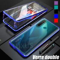 Realme 6 Pro 6s 6i 5 Luxe Housse Métal Deux Verre Trempé Coque Étui Cover Case