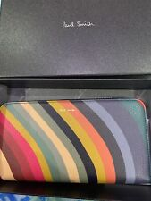Paul Smith Swirl large  Purse Bnib Stripe Leather Iconic Current Season £295 🌈