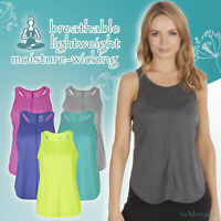 Women Ladies Sleeveless Yoga Racer Back Tank Top Vest Running Workout Activewear