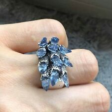 Blue Crystal Spike Ring, Size 8, Brand New