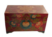 Cofanetto Scatola Tibetano Lotus Budda Artigianato Nepal 33x20cm - 7390-X15