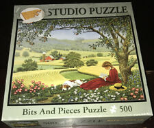 Bits And Pieces 500 Piece Jigsaw Puzzle High Horizons John Sloane Flowers Dog