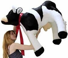 American Made Giant Stuffed Cow 3 and a Half Feet Long Big Plush Farm Animal