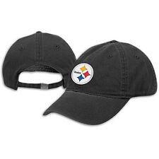 Pittsburgh Steelers Hat -  Reebok Black 3D Logo Slouch NFL Cap