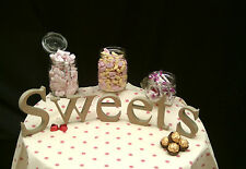 Sweets  Wooden MDF freestanding Unpainted Letters