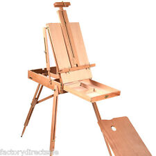 French Easel Wood Sketch Box Portable Folding Artist Painters Tripod Christmas