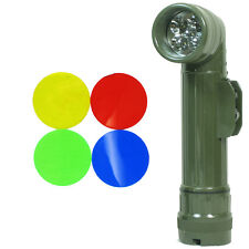 US Army OLIVE GREEN Right-Angle TL-122 TORCH Repro Large LED Flashlight Filters
