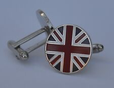 Round Union Jack Patriotic British Quality Enamel Cufflinks