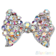 10x 3D Rhinestone Bow Tie Shape Nail Art Tip Glitter Decor DIY Manicure Pretty