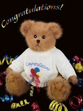 Bearington Collection 10'' Plush BEARY BEST WISHES Bear ~NEW~FREE Shipping