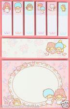 Little Twin Stars Memo Note Pads Sticky Post-it / Sanrio Japan
