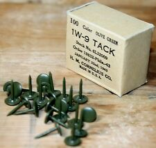 2000X 1W-9 OD Green WWII Surplus Thumb Tack 6L32009 1943 H.M. Cornelius USMC
