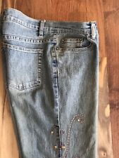 BOHO Armor Jeans Hippie with Gold Jewels And Embroidery Woman's 7/8