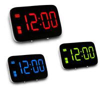 Grand affichage LED Alarme numérique Snooze Horloge Contrôle de la voix
