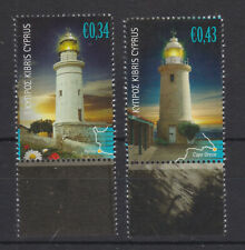 CYPRUS MNH STAMP SET 2011 LIGHTHOUSES CAPE GRECO & PAFOS