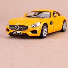2014 Yellow MercedesBenz GT Model Car Pull Back Action Collectable Opening Doors