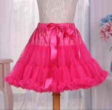 Women's Gilrs Dancewear Tutu Fluffy Party Skirt Soft Princess Ballet Pettiskirt