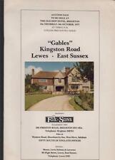 LEWES 'Gables' Kingston Road, East Sussex.  Auction sale property house bd.6