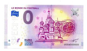 FRANCE Billet souvenir Spécimen 0 euro 2018 Le monde du football