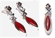 Sterling XO Coral Pendant/Earrings, Coral XO Sterling Silver Earrings/Pendant