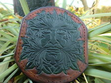 GREEN MAN custom leather patch