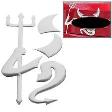 ♥ Neu Auto Aufkleber 3D CHROM Teufel Devil Emblem,VW BMW, Opel, Skoda, Sticker ♥