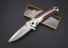 New Browning DA43 Folding Pocket Knife Combat Knife Titanium Steel Silver