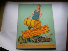 SHELL SCHMIERSTOFFE für die Landwirtschaft Orig. altes Pappschild 1930er Jahre