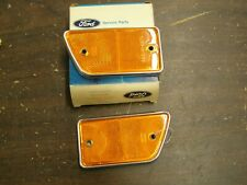 NOS OEM Ford 1968 1969 Truck Fender Reflectors Amber F100 F250 + Econoline