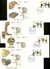 LOT 65197  UK CHARLES DARWIN CENTENARY SET OF 4  FDC COVERS GREAT BRITAIN