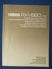 YAMAHA RX-V660 RECEIVER OWNER MANUAL FACTORY ORIGINAL  MULTI LANGUAGE