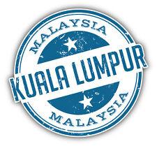 "Kuala Lumpur City Malaysia Grunge Travel Stamp Car Bumper Sticker Decal 5"" x 4"""