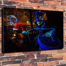 "Haunted Mansion Box Canvas Picture A1.30""x20"" Deep 30mm Frame Disney Halloween"
