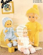 (257) Easy Knit, DK Knitting Pattern for Dolls Clothes -10 Pieces, Height 12-16'