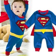 Baby Boy Girl Superhero Costume Halloween Outfit Romper Superman 00,0,1,2