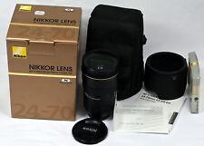 Mint In Box Nikon AF-S Nikkor 24-70mm f/2.8G Auto/Manual Focus Lens Complete Set
