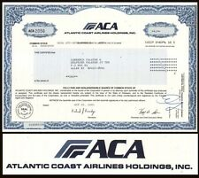 Atlantic Coast Airlines Holdings, Inc. 2001 Stock Certificate