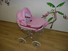 Display  New Valco Classic Dolls Large Pram Girls Stroller Play Buggy