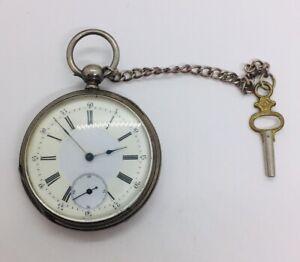 Vacheron Geneve Antique Sterling Silver Key Wind Pocket Watch
