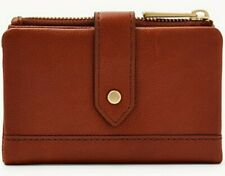 Fossil Women's Lainie Multifunction Leather Wallet Brown SWL2061210