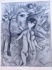 Marc Chagall offset lithograph Bible  paris maeght 1960 original  2 sided 102