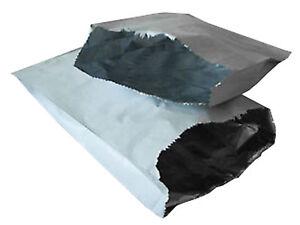 """100 Foil Lined Paper Bags 7""""x 9""""x 12"""" Naan Bread Chicken Takeaway"""