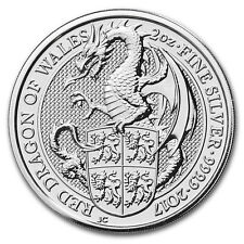 2017 Great Britain 2 oz Silver Queen's Beasts The Dragon