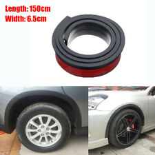 1Pair 150cm Widening 6.5cm Car Fender Flare Wheel Eyebrow Protector Anti-scratch